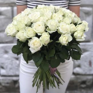 51 Trandafiri Albi 70-80 cm
