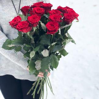 15 Trandafiri Roșii 70-80 cm