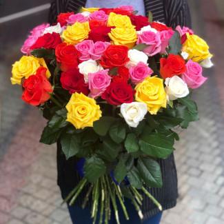 51 Роза Ассорти 30-40 см