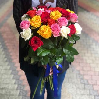 25 Роз Ассорти 30-40 см