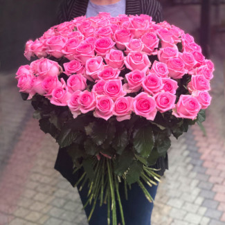 101 Pink Roses 70-80 cm