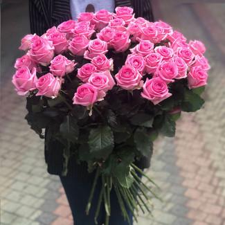 51 Trandafiri Roz 70-80 cm