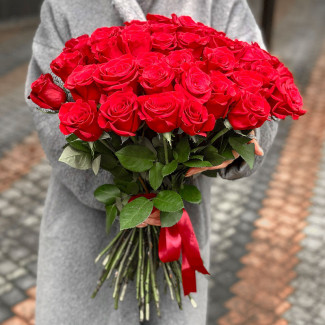 51 Trandafiri Roșii 30-40 cm