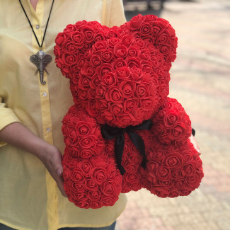 Flower Bear Red