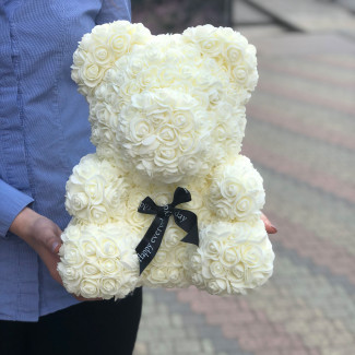 Flower Bear White