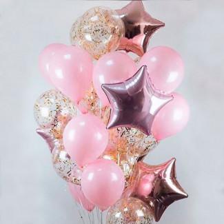 "Helium Balloons ""Pink Star"""