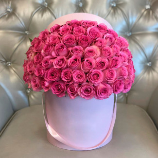 """Flowers in a Box """"Pink crown"""""""