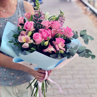 "Bouquet ""Flamingo Bay"""