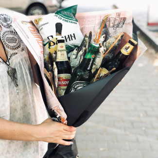Bouquet for Men with Fish &...