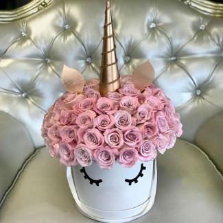 "Flower in box ""Violet Unicorn"""