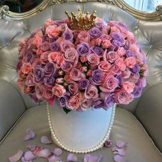 "Flowers in box ""Queen of my..."